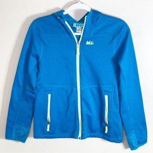 REI Girls Teal Green Full Zip Sweatshirt Hoodie